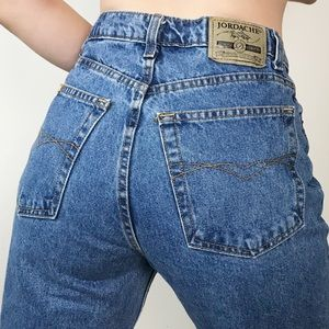 VINTAGE JORDACHE High Waist Denim Mom Jeans 10